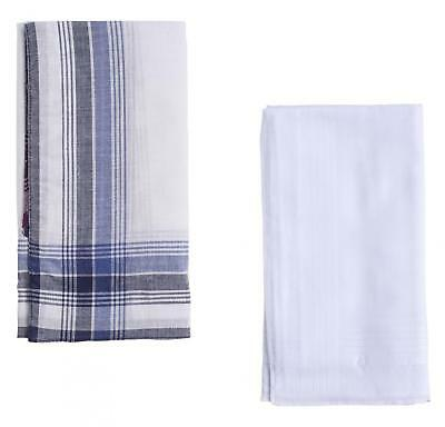 6 Pack Mens Handkerchiefs Pure Cotton Lightweight Fabric Patterned And Plain
