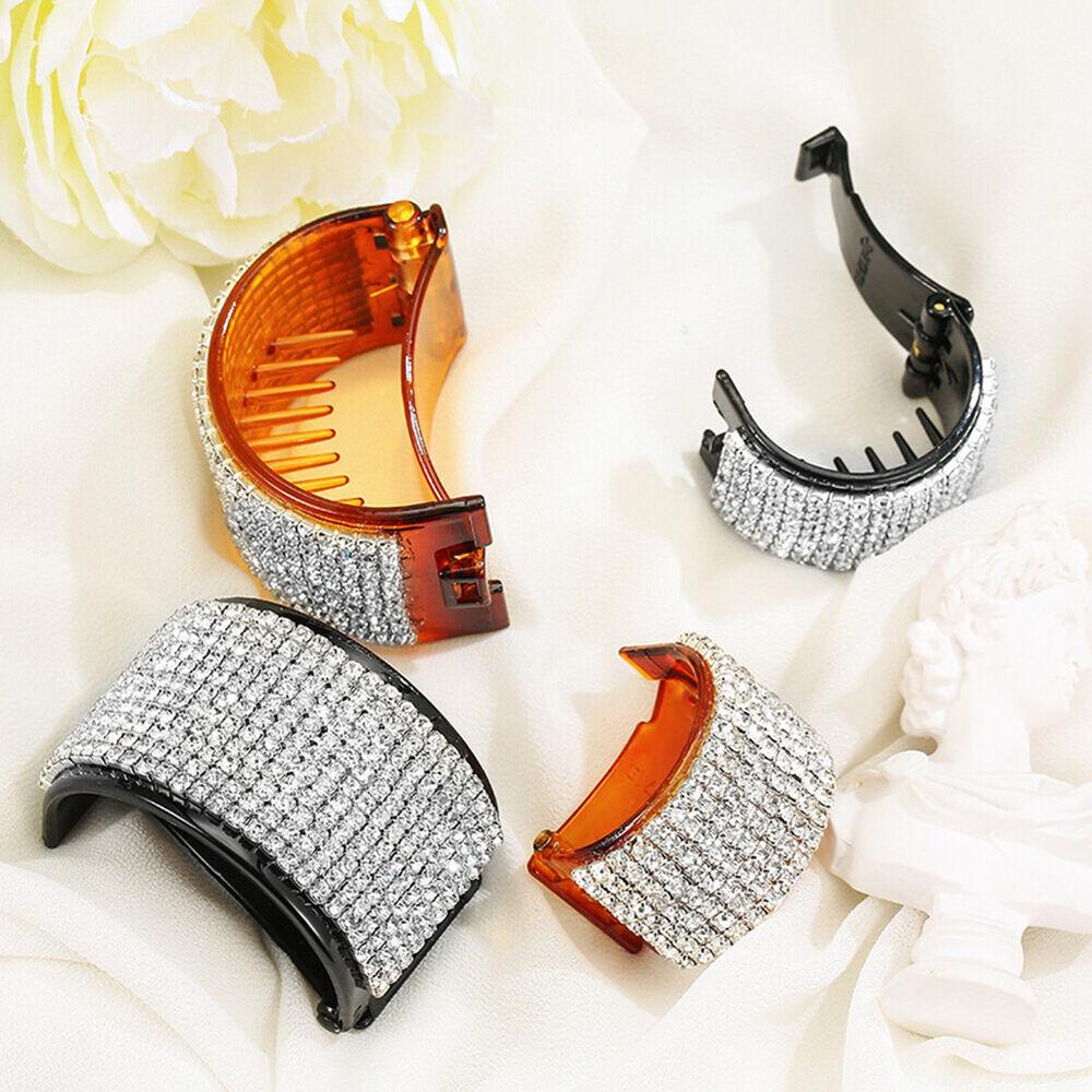 ALS_ Fashion Rhinestone Hairpin Women Ponytail Hair Clip Headwear Accessory Hot Clothing, Shoes & Accessories