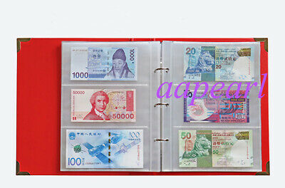 240pockets 40Pages Double Sided Album Banknotes Bills Stamp Collections Book