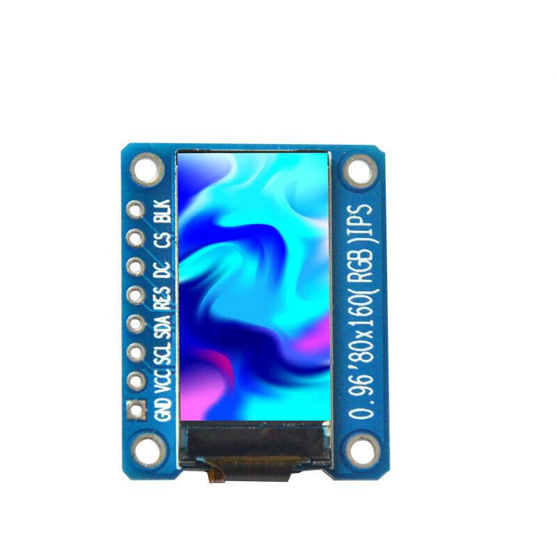 0.96 Inches HD RGB TFT IPS Screen OLED Display Module 80x160 ST7735 SPI 3.3V