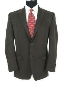 Ralph-Lauren-Blazer-Sz-40R-Brown-All-Season-Microfiber-Sport-Coat-Jacket