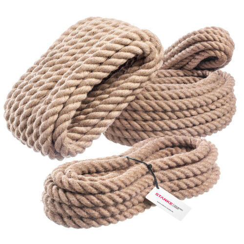 Corde de jute 10mm corde de chanvre naturhanf corde chanvre jute tau corde lutte sans merci la marchandise en stock