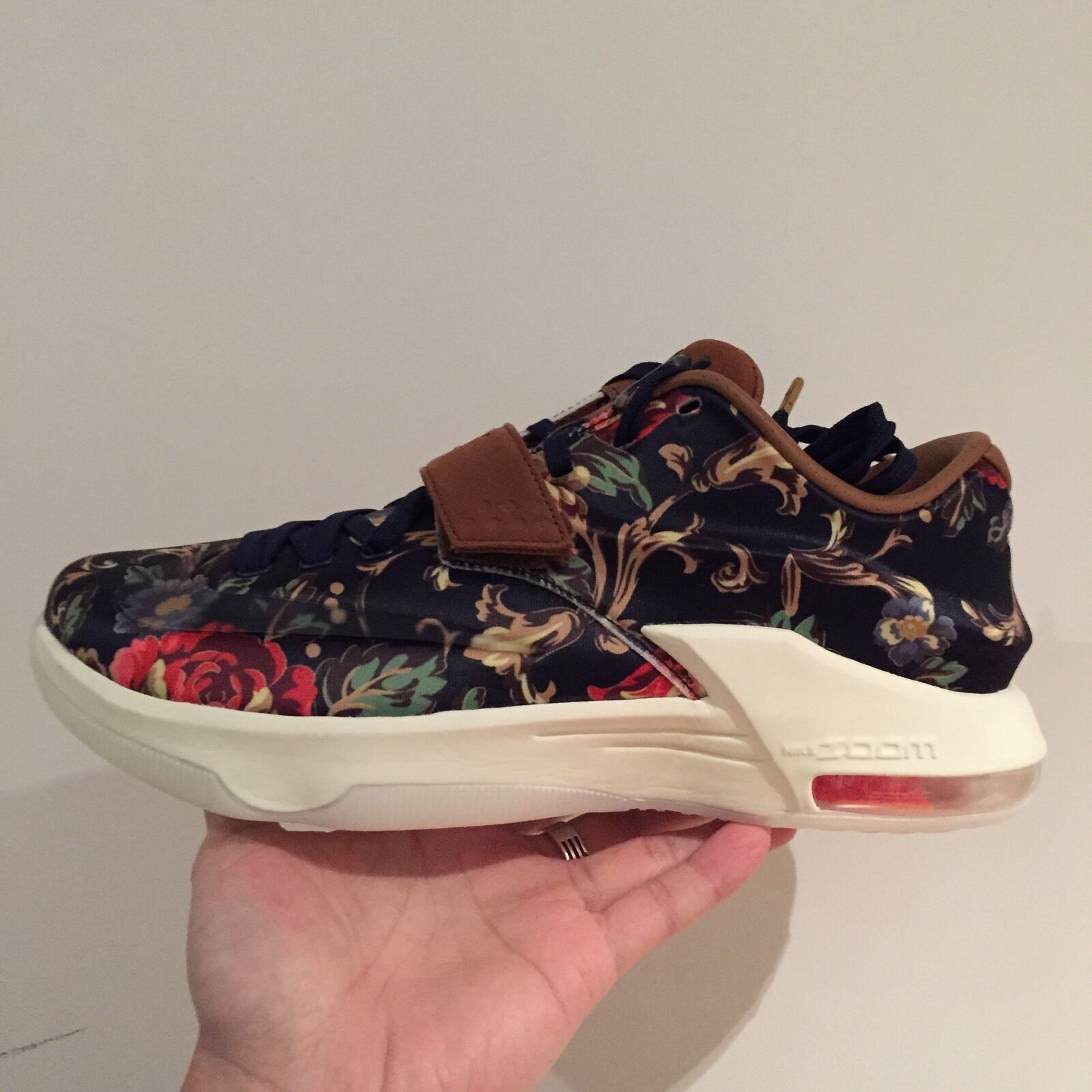66595bf263e3a Nike KD VII Navy Ext Floral QS Midnight Navy VII homme Basketball Baskets7  US 8 EU 41 d44e38