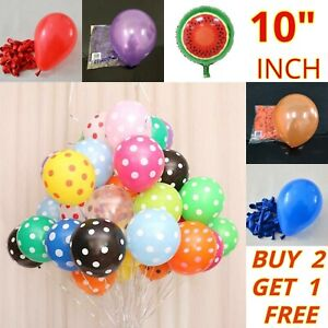 1 - 50 Latex PLAIN ballons Ballons Hélium balons Qualité Fête Anniversaire Mariage