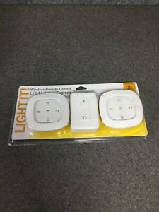 NEW-Light-It-White-Wireless-Remote-Control-LED-Lighting-System-M17A