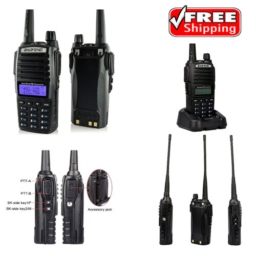 Portable Handheld Transceiver Scanner Radio Police Fire Dual Band Display Memory