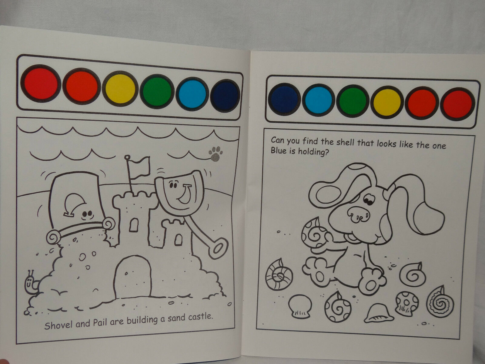 NEW BLUES CLUES DAY PAINT AND WATER COLORING BOOK A DAY CLUES AT THE ...