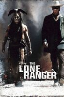 The Lone Ranger Movie Poster Side By Side 22x34 Johnny Depp Armie Hammer