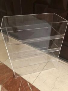 Acrylic-Display-Case-16-034-x-8-034-x-19-034-w-lip-shelves-Showcase-Cabinet-Shelves