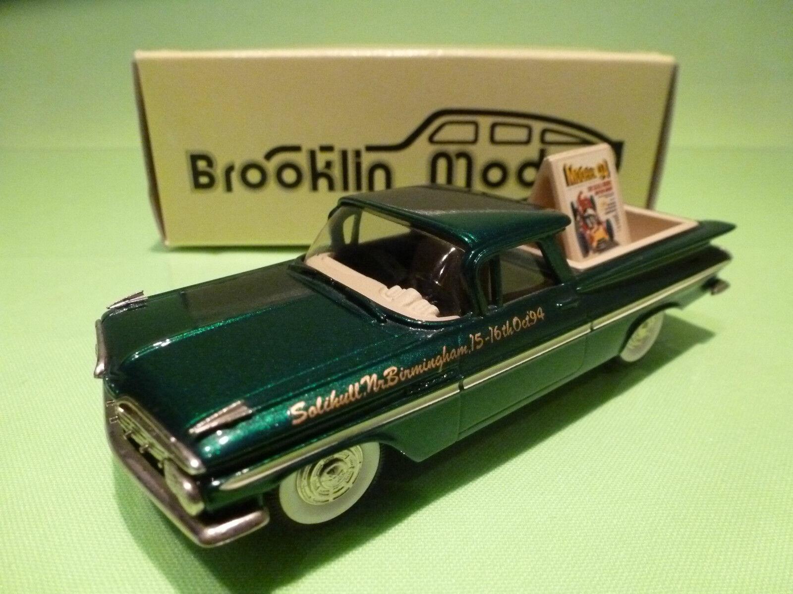 BROOKLIN MODELS BRK 46x CHEVROLET EL CAMINO 1959 - MODELEX 94 - 1 43 - NMIB
