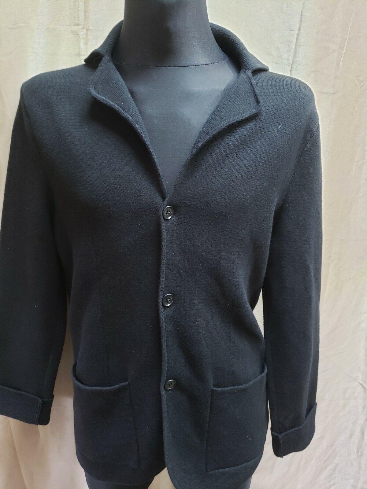 Armani Exchange A|X Mens Cardigan Blazer Rib Buttoned Sweater Jacket M.