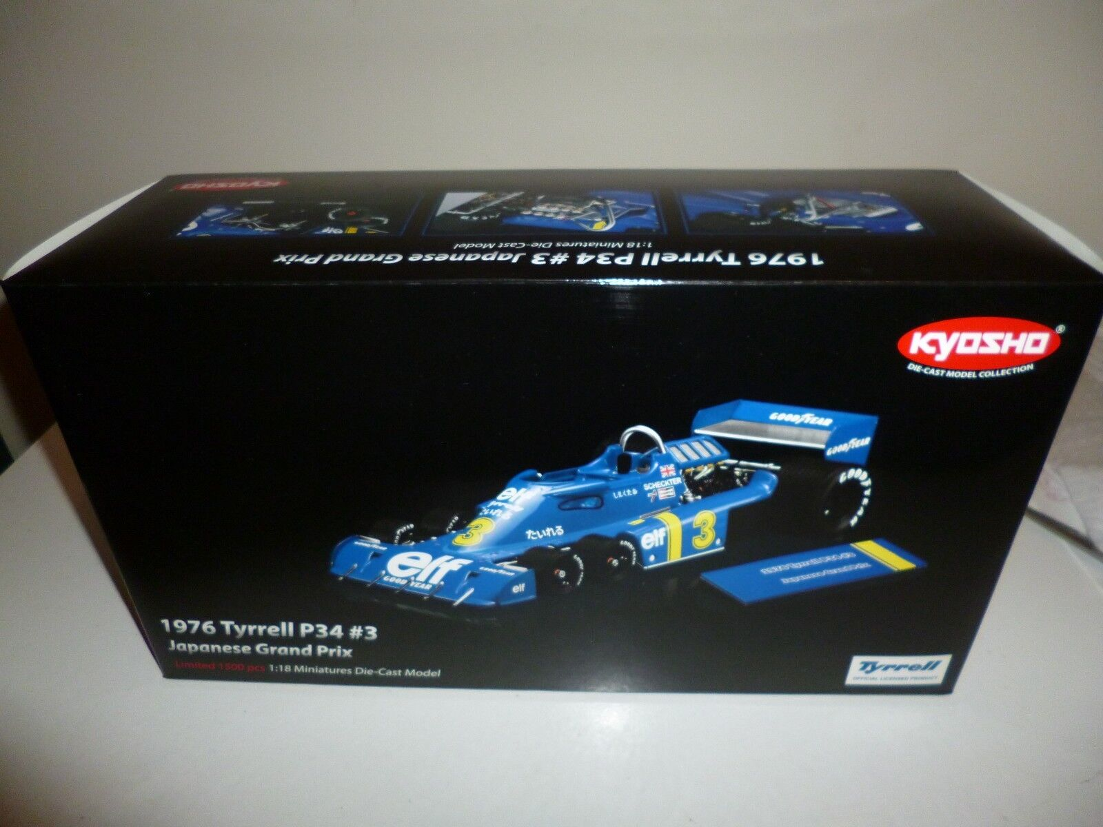 TYRRELL P34  3 del 1976 JAPAN Grand Prix Die-cast model KYOSHO RARISSIMA NEW Rar