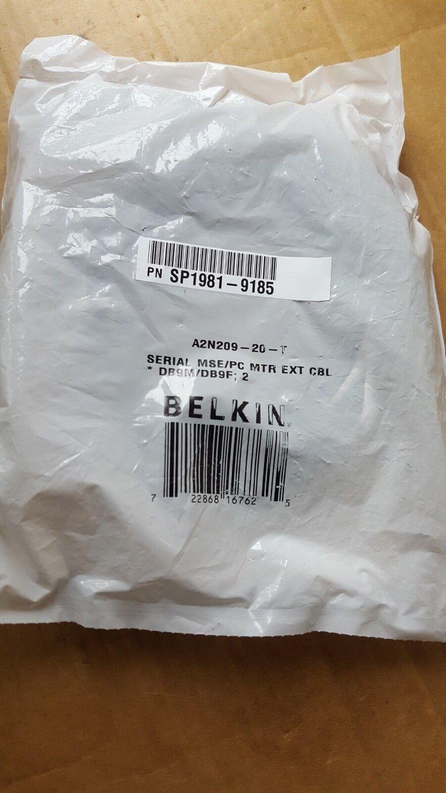 BELKIN A2N209-20-T SERIAL MSE/PC MTR EXT CBL DB9M/DB9F (BR2.3B22)