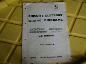 Superb Details About Ferrari Mondial Qv Cabriolet 289 83 Genuine Electric Wiring Diagrams Oem 1983 Wiring Database Gramgelartorg