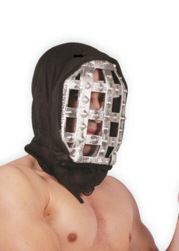 HOODED EXECUTIONER IRON Face Armour Mask Shield Medieval Fancy Dress Guard Head