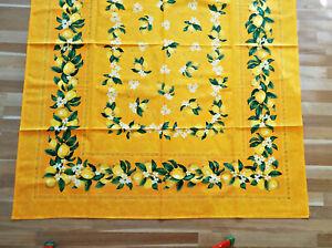 Magnifique Élégant Et Noble Nappe Provence 100% Coton Env. 175x140 Cm-afficher Le Titre D'origine Confortable Et Facile à Porter