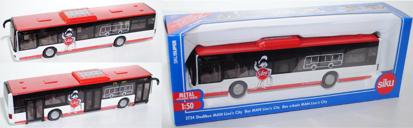 SIKU SUPER 3734 surbaissé MAN LION'S CITY solobus SSC Spécial Modèle 1:50 | Simple D'utilisation