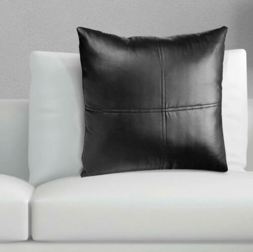 Throw Pillow Covers Cushion Case Genuine Soft Lambskin Leather Home Decor set