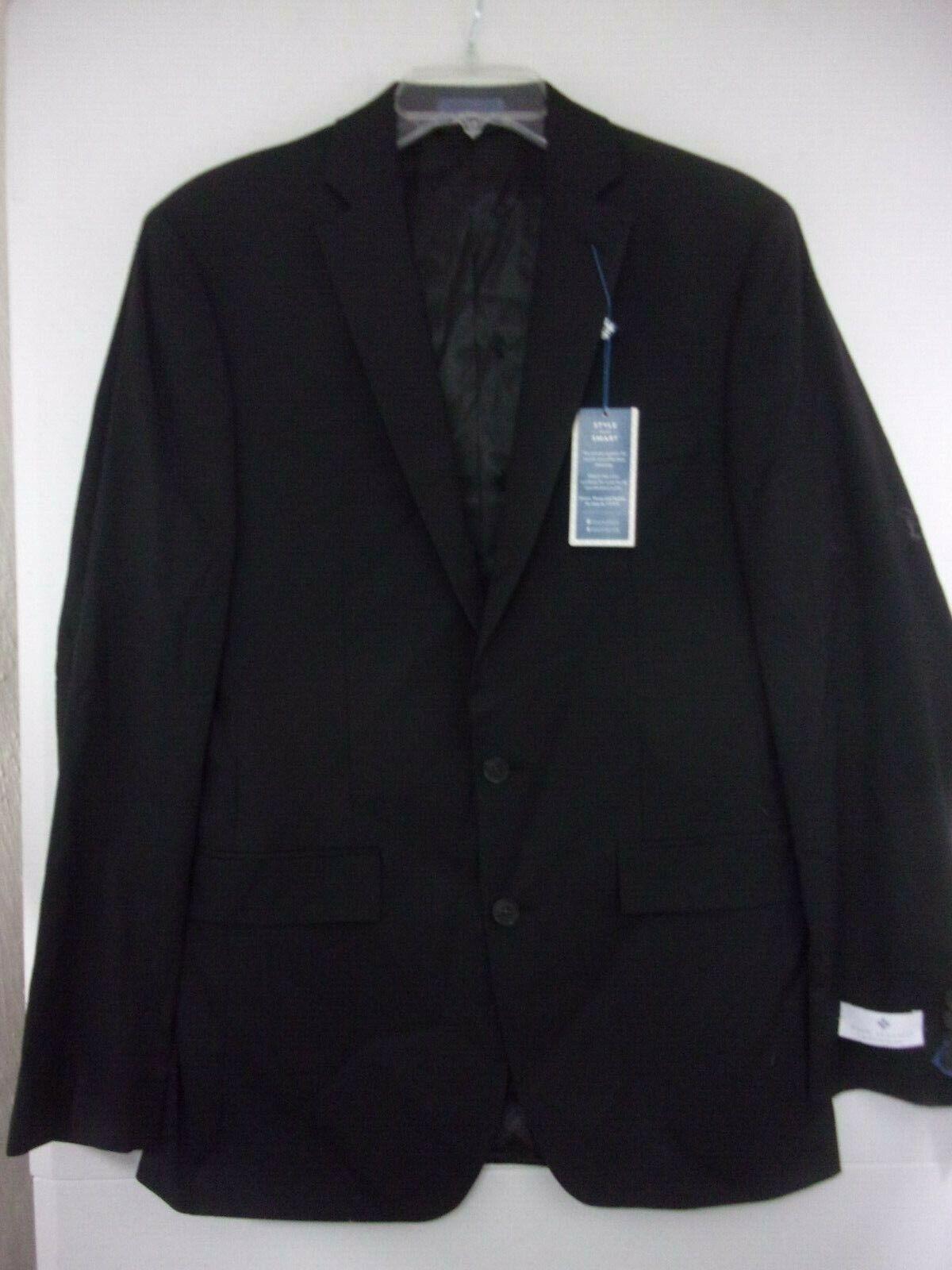 425 Ryan Seacrest 38 long homme noir modern fit Veste Sport Manteau Neuf avec étiquettes