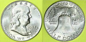 STATI-UNITI-MEZZO-DOLLARO-1957-034-FRANKLIN-034-ZECCA-DENVER-AG-UNC-A4-8