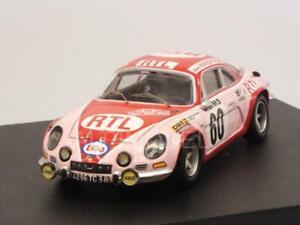 Alpine A110 Renault Rallye Monte Carlo 1972 Moss - Crellin 1:43 Trophy 826