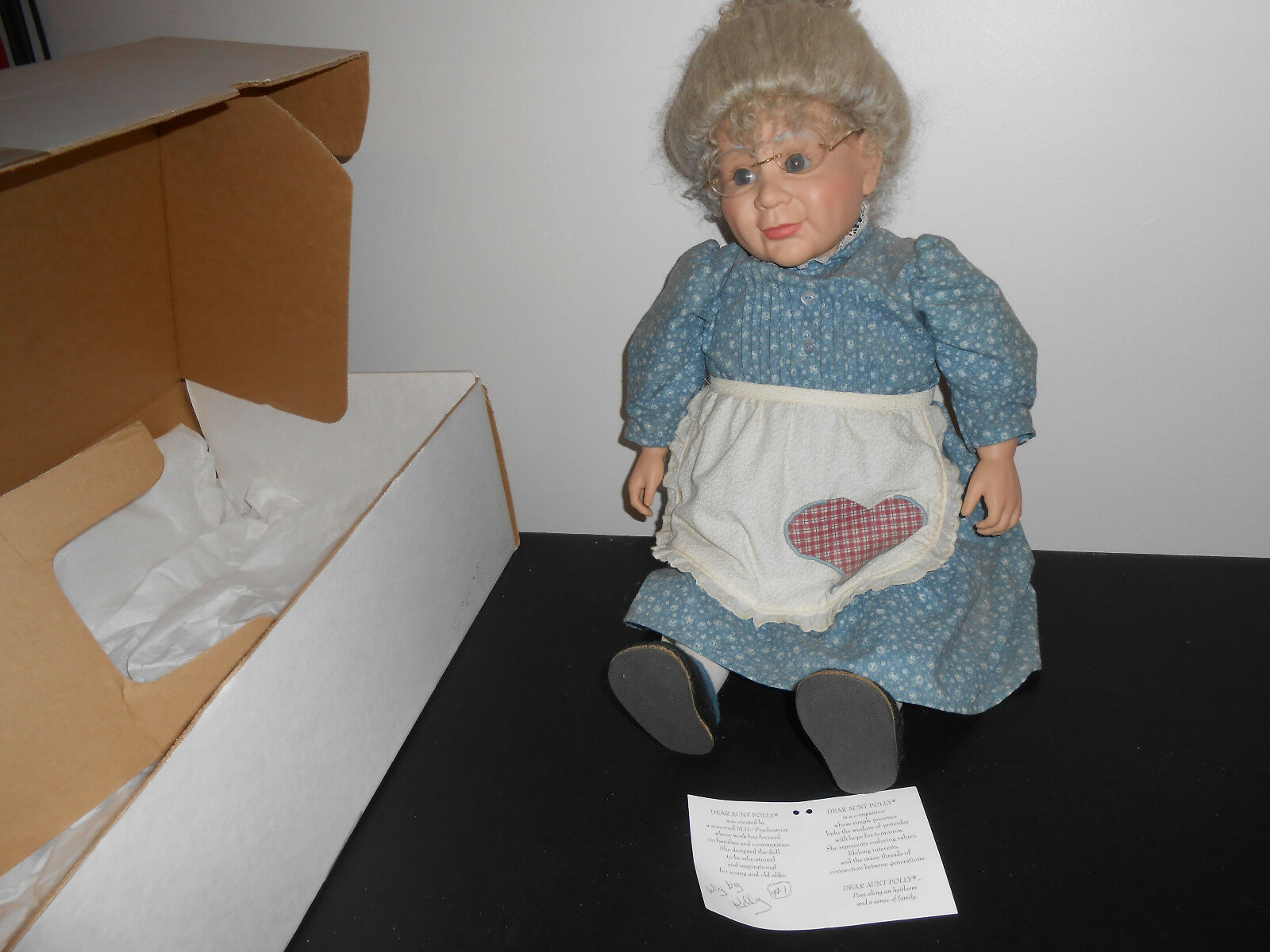 Dear Aunt Polly  Is A 24  Tall Collectible Doll, Vinyl Arms and Legs With Cloth