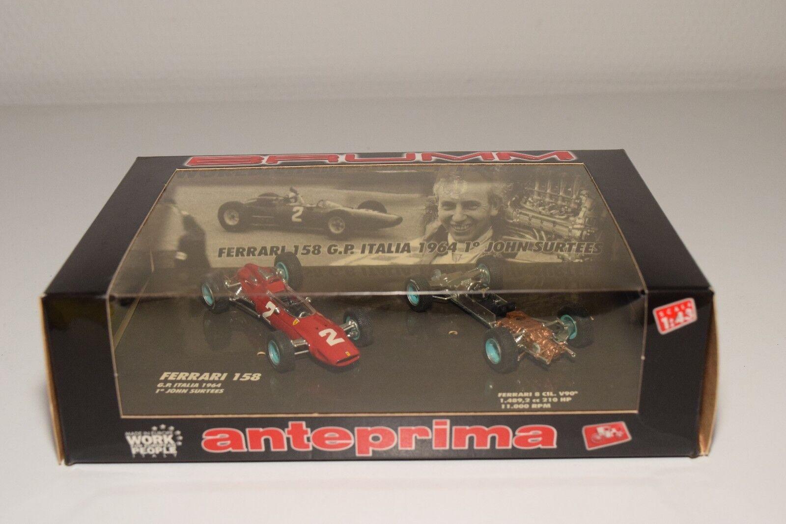 Esperando por ti V 1 1 1 43 BRUMM A001 FERRARI 158 GRAND PRIX ITALIA ITALY 1964 SURTEES MINT BOXED  Ahorre 35% - 70% de descuento