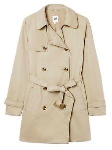 NWT-GAP-M-Khaki-Classic-Trench-Coat