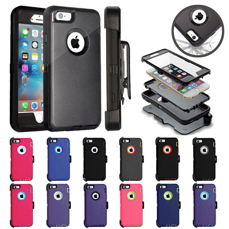 4bbbad8bf Details about For Apple iPhone 6S / iPhone 6 Defender Series Case(Belt Clip  fits for Otterbox)