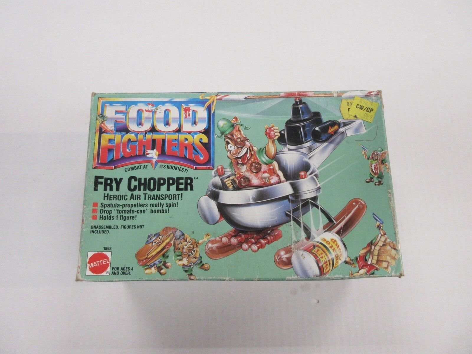 1988 MATTEL FOOD FIGHTERS FRY CHOPPER FIGURE VEHICLE SEALED NIB