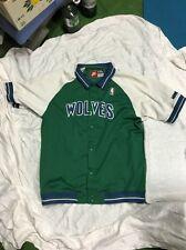 vintage Timberwolves pregame warmup jersey jacket 1995 wolves basketball MN OLD
