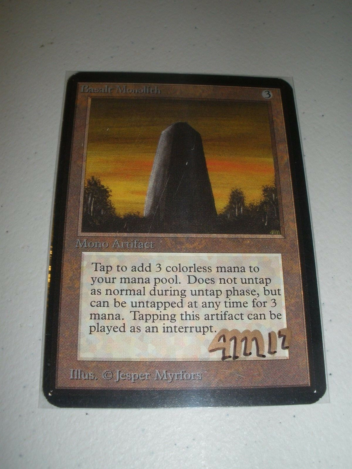 MTG Magic Artist Signed Basalt Monolith x1 Alpha Alpha Alpha LP NM 100a78