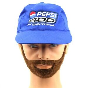 0bace400 VINTAGE DAYTONA PEPSI 400 RACING HAT CAP PETTY BLUE PEPSI LOGO DMS ...