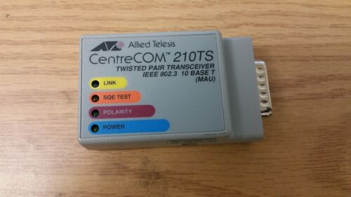 Allied Telesis CentreCOM 210TS Twiested Pair Transceiver IEEE 802.3 10 Base T