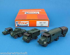 Roco Minitanks H0 383 BGS-SET 5x Bundesgrenzschutz MAN Munga Saladin OVP HO 1:87