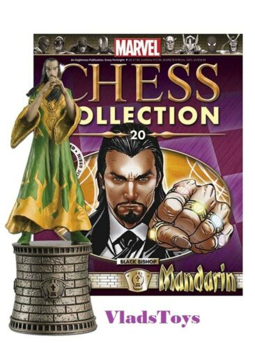 Eaglemoss Marvel Chess Collection Mandarin Chess Piece #20 Noir Bishop avec MAG
