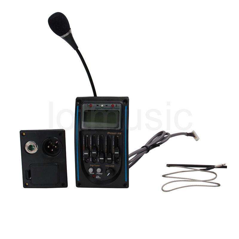 5 band acoustic guitar preamp eq equalizer piezo pickup amplifier tuner lcd mic ebay. Black Bedroom Furniture Sets. Home Design Ideas