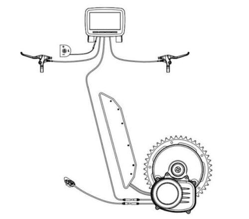 48V 750W electric bicycle TSDZ2  central mid motor with torque sensor/&6v light