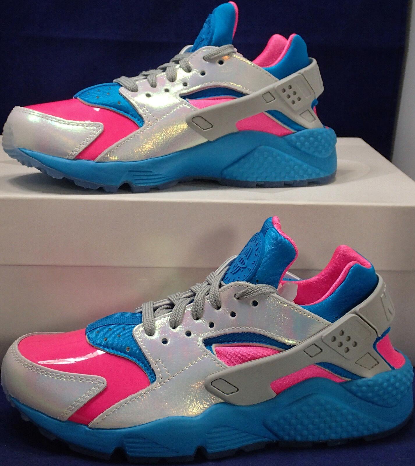Womens Nike Air Air Air Huarache Run iD Iridescent bluee Pink SZ 6 ( 871141-992 ) a0717b