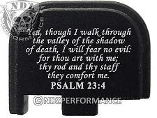 for Glock 42 ONLY Rear Slide Cover Plate .380 Cal G42 Black Bible Psalm 23:4