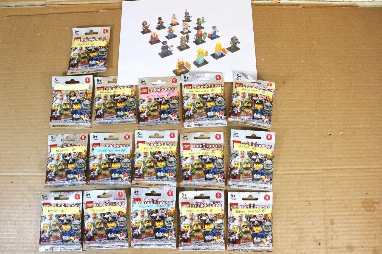 LEGO MINISTGURER 71000 SERIER 9 KOMPLETTA SET AV 16 FIGURES SELAD nr