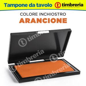 CUSCINETTO TAMPONE TIMBRI DA TAVOLO cm 8x12 INCHIOSTRO TIMBRI COLORE ARANCIONE 6ib1HHq4-09160333-256879529