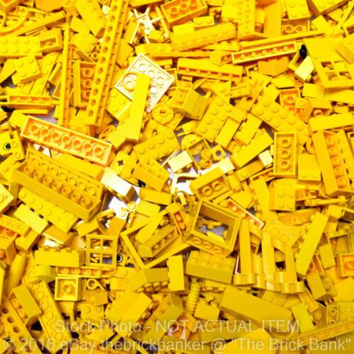 LEGO 1lb BRIGHT YELLOW~400 Pieces-SANITIZED-Bulk Pound Lot Brick Part Random A
