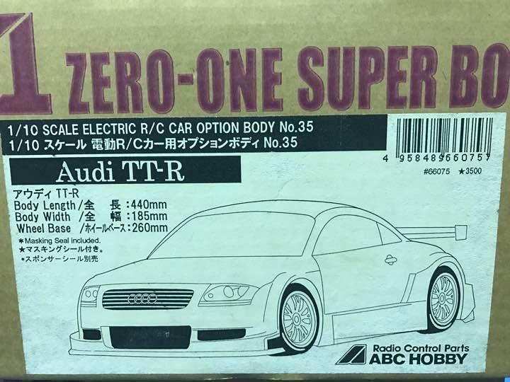 ABC HOBBY ZERO-ONE SUPER BODY 1 10 Audi TT-R TTR CAR OPTION BODY No.35  11617