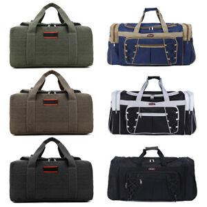 Vintage-Men-Women-Large-Duffle-Bag-Sports-Gym-Travel-Luggage-Shoulder-Handbag