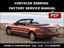 chrysler sebring 2001 2002 2003 2004 2005 2006 repair service 2008 Chrysler Sebring Convertible chrysler sebring convertible 2001 2002 2003 2004 2005 2006 service repair manual
