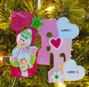 bff best friends forever personalized christmas tree ornament
