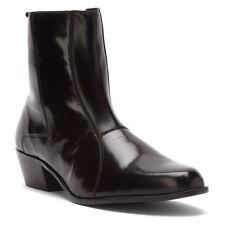 item 1 New Stacy Adams Mens Santos Black Leather Cuban Heel Size Zip Boots  24855-001 -New Stacy Adams Mens Santos Black Leather Cuban Heel Size Zip  Boots ...