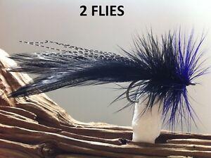 Snook Fly 2 flies Tarpon Fly EP Baitfish BlackPurple Redfish Fly