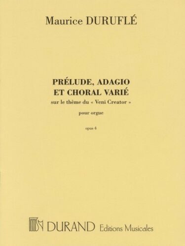 Prelude Adagio and Choral Varie Op 4 Sheet Music Organ Solo NEW 050560410